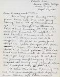 Letter, Virginia Brainard to Dudley and Merl Brainard [September 22, 1940]