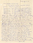 Letter, Virginia Brainard to Dudley and Merl Brainard [February 15, 1941]