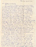Letter, Virginia Brainard to Dudley and Merl Brainard [April 7, 1941]