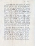 Letter, Virginia Brainard to Dudley and Merl Brainard [May 4, 1941]