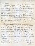Letter, Virginia Brainard to Merl Brainard [December 8, 1941]