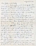 Letter, Virginia Brainard to Dudley and Merl Brainard [August 14, 1942]