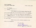 Letter, Secretary of State Teachers College to Dudley Brainard [June 3, 1943] by Secretary of State Teachers College