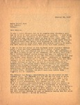 Letter, Dudley Brainard to Major Julian Gist of Fort Benning [January 18, 1947] by Dudley Brainard