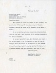 Letter, Mary Taylor to Miriam Alburn [February 26, 1948] by Mary Taylor