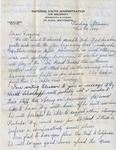 Letter, Dudley Brainard to Virginia Brainard [February 20, 1949] by Dudley Brainard