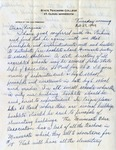 Letter, Dudley Brainard to Virginia Brainard [February 23, 1949] by Dudley Brainard