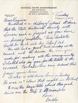 Letter, Dudley Brainard to Virginia Brainard [March 1, 1949] by Dudley Brainard