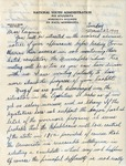 Letter, Dudley Brainard to Virginia Brainard [March 27, 1949]