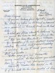 Letter, Dudley Brainard to Virginia Brainard [March 28, 1949]