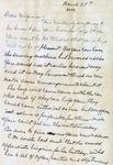 Letter, Merl Brainard to Virginia Brainard [March 29, 1949] by Merl Brainard