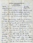 Letter, Dudley Brainard to Virginia Brainard [May 15, 1949]