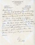 Letter, Dudley Brainard to Virginia Brainard [June 28, 1949] by Dudley Brainard