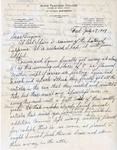 Letter, Dudley Brainard to Virginia Brainard [July 27, 1949]
