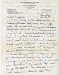 Letter, Dudley Brainard to Virginia Brainard [August 25, 1949] by Dudley Brainard