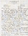 Letter, Dudley Brainard to Virginia Brainard [September 13, 1949]