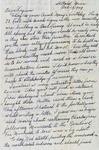 Letter, Dudley Brainard to Virginia Brainard [October 29, 1949]
