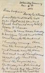 Letter, Merl Brainard to Virginia Brainard [November 6, 1949] by Merl Brainard