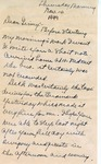 Letter, Merl Brainard to Virginia Brainard [November 10, 1949] by Merl Brainard