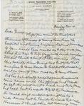 Letter, Merl Brainard to Virginia Brainard [November 14, 1949] by Merl Brainard