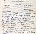 Letter, Dudley Brainard to Virginia Brainard [November 26, 1949] by Dudley Brainard