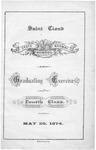 Commencement Program [Spring 1874]