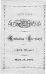 Commencement Program [Spring 1875]