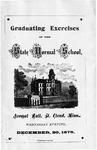 Commencement Program [Spring 1876]