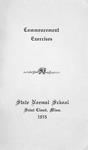 Commencement Program [Spring 1915]