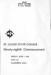 Commencement Program [Spring 1968]