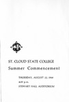 Commencement Program [Summer 1968]