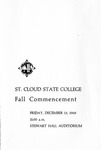 Commencement Program [Fall 1968]