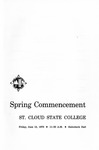 Commencement Program [Spring 1970]