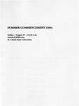 Commencement Program [Summer 1984]