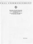 Commencement Program [Fall 1984]