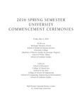 Commencement Program [Spring 2016] by St. Cloud State University