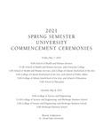 Commencement Program [Spring 2021]