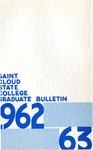 Graduate Course Catalog [1962/63] by St. Cloud State University