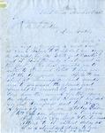 Letter, John L. Wilson to Joseph P. Wilson [March 31, 1855]