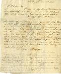 Letter, Gavin (?) W. Wilson to Joseph P. Wilson [November 2 and 3, 1856]