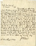 Letter, Joseph P. Wilson to the Town Council of St. Augusta [August 1, 1863] by Joseph P. Wilson