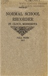 Normal School Recorder [Fall 1917] by St. Cloud State University