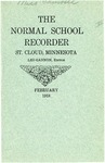 Normal School Recorder [February 1918] by St. Cloud State University
