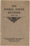 Normal School Recorder [April 1918] by St. Cloud State University