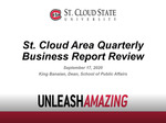 St. Cloud Area Quarterly Business Report, Vol. 22, No. 3 - Podcast by King Banaian and Richard MacDonald