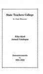 Undergraduate Course Catalog [1921/22]