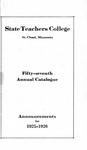 Undergraduate Course Catalog [1925/26]