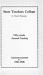Undergraduate Course Catalog [1927/28]
