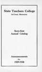 Undergraduate Course Catalog [1929/30]